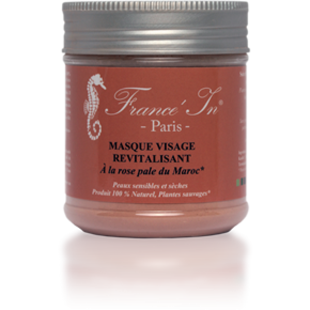 Masque Visage Revitalisant à la Rose Pale du Maroc France in paris
